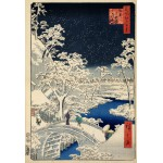 Puzzle  Grafika-Kids-00270 Pièces XXL - Utagawa Hiroshige : Drum bridge at Meguro and Sunset Hill, 1857