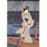 Puzzle  Grafika-Kids-00283 Utagawa Hiroshige : Evening on the Sumida River, 1847-1848