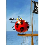 Puzzle  Grafika-Kids-00840 François Ruyer: Coccinelle Pirate