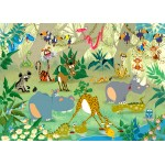Puzzle  Grafika-Kids-00876 François Ruyer : Jungle