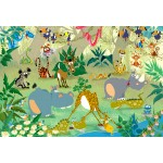 Puzzle  Grafika-Kids-00878 Pièces XXL - François Ruyer : Jungle