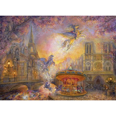 Puzzle Grafika-Kids-01561 Josephine Wall - Magical Merry Go Round
