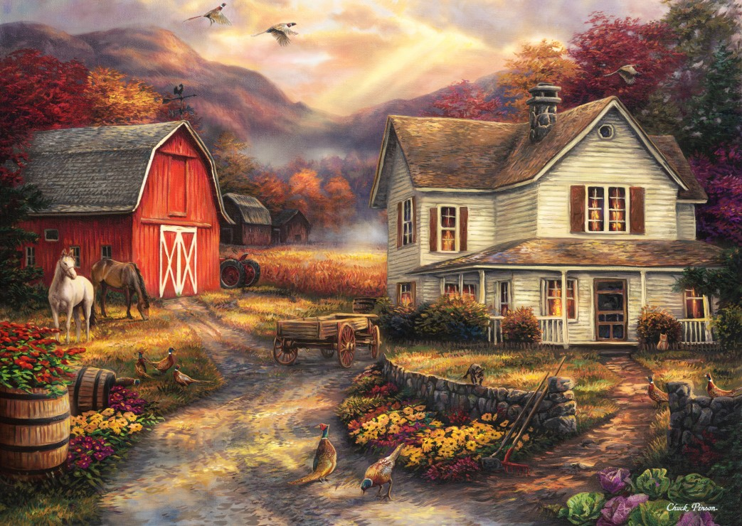 Puzzle Chuck Pinson - Relaxing on the Farm Grafika-T-00765 ...