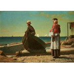 Puzzle  Grafika-00252 Winslow Homer : Dad's Coming!, 1873