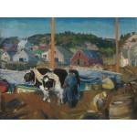 Puzzle  Grafika-00292 George Bellows : Ox Team, Wharf at Matinicus, 1916