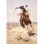 Puzzle  Grafika-00294 Charles Marion Russell : A bad Hoss, 1904