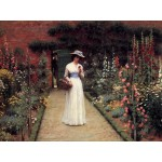 Puzzle  Grafika-00370 Edmund Blair Leighton : Lady in a Garden