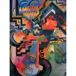 Puzzle  Grafika-00439 August Macke : Composition colorée, 1912