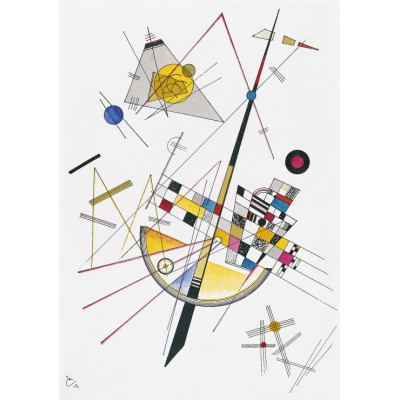 Puzzle Grafika-00632 Wassily Kandinsky : Delicate Tension, 1923