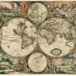 Puzzle  Grafika-00641 Carte du Monde, Produced in Amsterdam, 1689