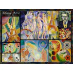 Puzzle  Grafika-00841 Robert Delaunay - Collage