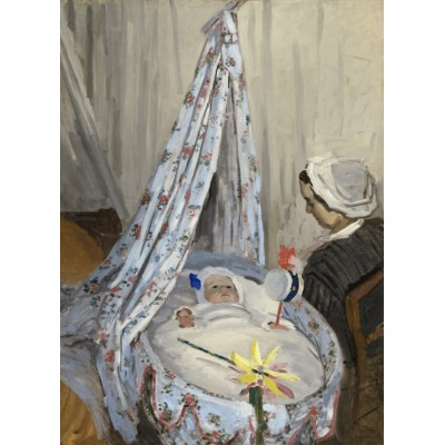 Puzzle Grafika-01530 Claude Monet - The Cradle - Camille with the Artist's Son Jean, 1867