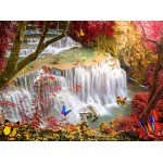 Puzzle  Grafika-02672 Deep Forest Waterfall