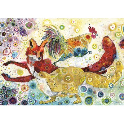 Puzzle Grafika-02838 Sally Rich - Leaping Fox's