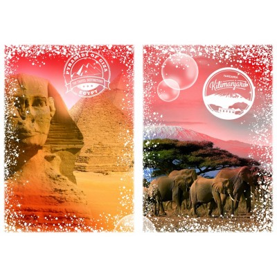 Puzzle Grafika-T-00205 Travel around the World - Afrique, Egypte et Kenya