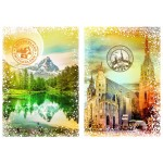 Puzzle  Grafika-T-00236 Travel around the World - Autriche et Suisse