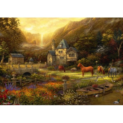 Puzzle Grafika-T-00822 Chuck Pinson - The Golden Valley