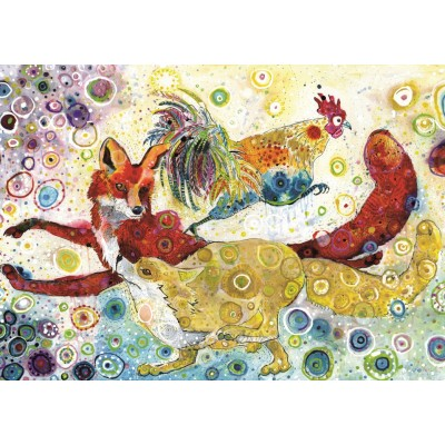 Puzzle Grafika-T-00881 Sally Rich - Leaping Fox's