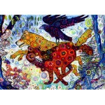 Puzzle  Grafika-T-00886 Sally Rich - Wolves in a Blue Wood