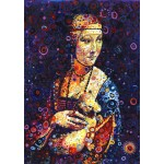 Puzzle  Grafika-T-00888 Leonardo da Vinci: Lady with an Ermine, by Sally Rich