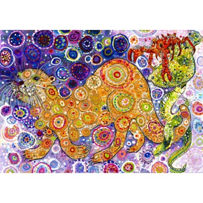 Puzzle Grafika-T-00900 Sally Rich - Otters Catch