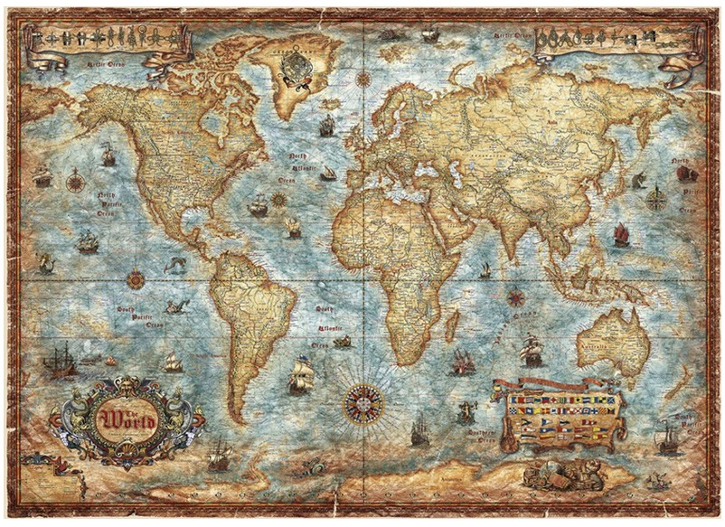 puzzle carte du monde heye 29275 3000 pi ces puzzles cartes du monde et mappemonde planet. Black Bedroom Furniture Sets. Home Design Ideas