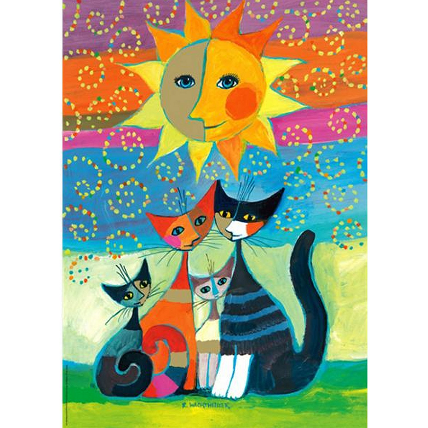 puzzle rosina wachtmeister le soleil heye 29158 1000 pi ces puzzles chats planet 39 puzzles. Black Bedroom Furniture Sets. Home Design Ideas