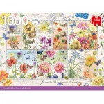 Puzzle  Jumbo-18812 Flower Stamps Summer