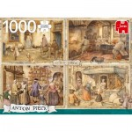 Puzzle  Jumbo-18818 Anton Pieck - Bakers from 19th Century