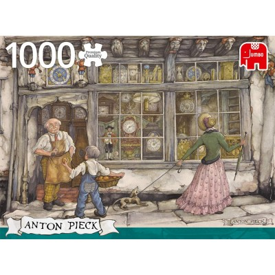 Puzzle Jumbo-18826 Anton Pieck - The Clock Shop