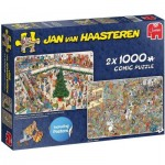 Puzzle  Jumbo-20033 Jan van Haasteren - Holiday Shopping (2x1000 pieces)