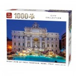 Puzzle   Night View of Trevi Fountain Rome