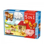 King-Puzzle-05074 5 Puzzles - Kiddy Puzzles 5 in 1