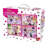 King-Puzzle-05254 4 Puzzles - Minnie