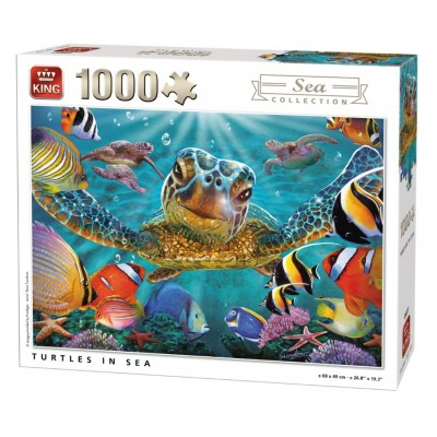 Puzzle King-Puzzle-05617 Tortues