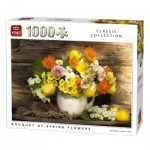 Puzzle  King-Puzzle-05646 Bouquet de Fleurs de Printemps