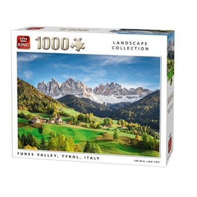 Puzzle King-Puzzle-05708 Funes Valley, Tyrol, Italie