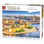Puzzle  King-Puzzle-55952 City Collection - Gamla Stan, Stockholm, Suède