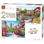 King-Puzzle-85516 2 Puzzles - Amsterdam & London