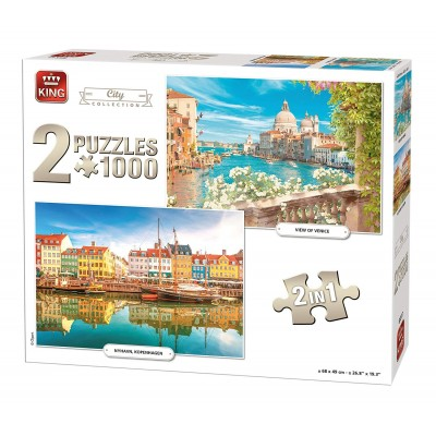 King-Puzzle-85517 2 Puzzles - City Collection