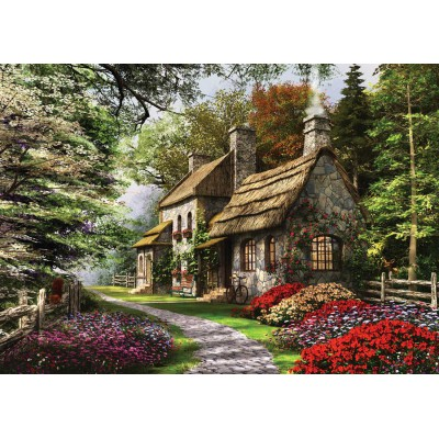 Puzzle KS-Games-11261 Dominic Davison : Le Cottage aux Oeillets