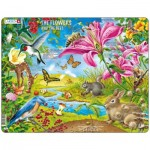 Larsen-NB4-GB Puzzle Cadre - The Flowers and the Bees (en Anglais)