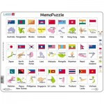 Puzzle Cadre - The Flags and Capitals of 27 Countries in Asia and the Pacific