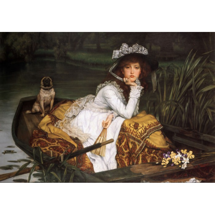 Grafika James Tissot : Young Lady in a Boat