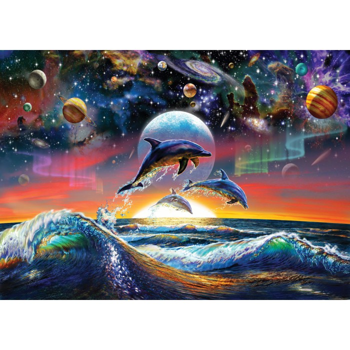 Art Puzzle Dauphins Universels