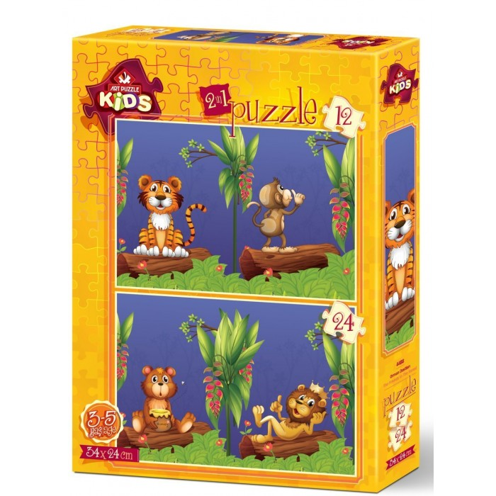 Art Puzzle 2 Puzzles - The Friends in The Forest