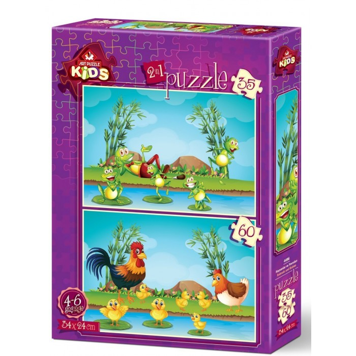 Art Puzzle 2 Puzzles - Animals and Babies