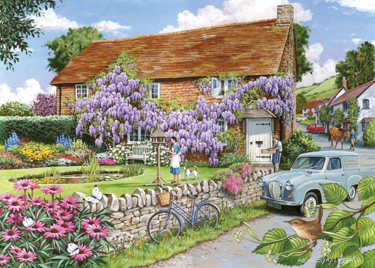 Puzzle Pièces XXL - Wisteria Cottage The House of Puzzles
