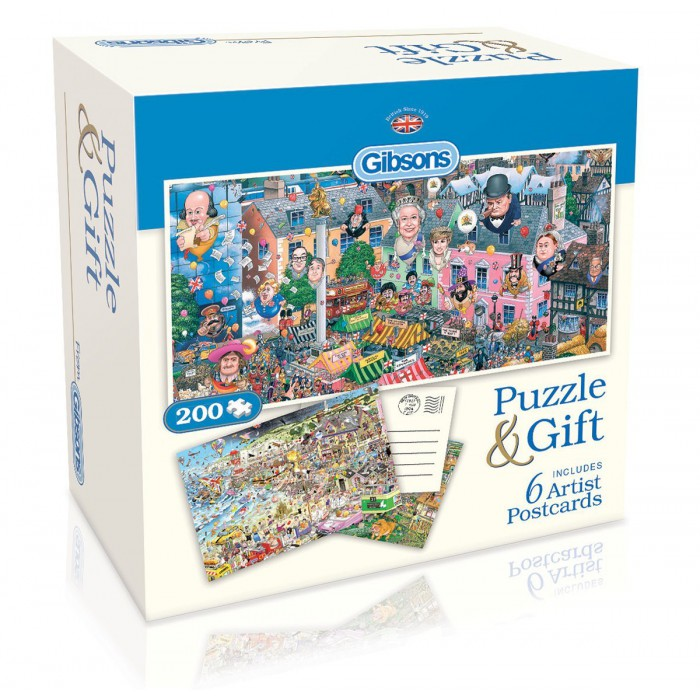 Gibsons Puzzle Cottage et 6 Cartes par Mike Jupp. Puzzle Cottage et 6 Cartes par Mike Jupp