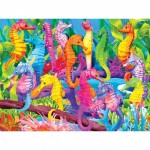 Puzzle  Master-Pieces-31359 Pièces XXL - Glow in the Dark - Singing Seahorses